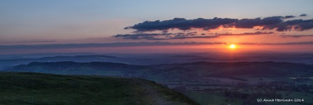 sunset over Brecon Beacons