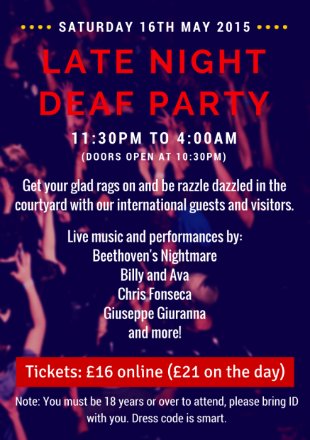 LATE NIGHT DEAF PARTY