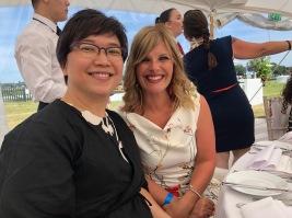 Yoko Yuyama, International Coordinator of Tokyo International Deaf Film Festival with Nikki Stratton, Co-Founder and Co-Director of Deaffest